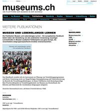 Screenshot der Website «museums.ch»